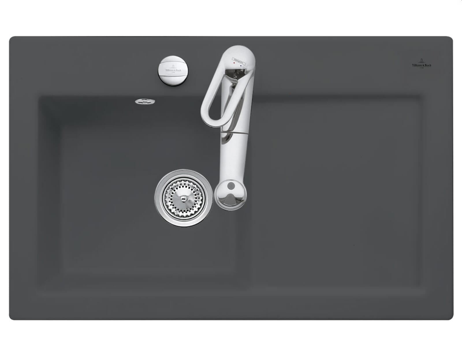 Produktabbildung Subway 45 mit Becken links und Excenterbetätigung in Graphit