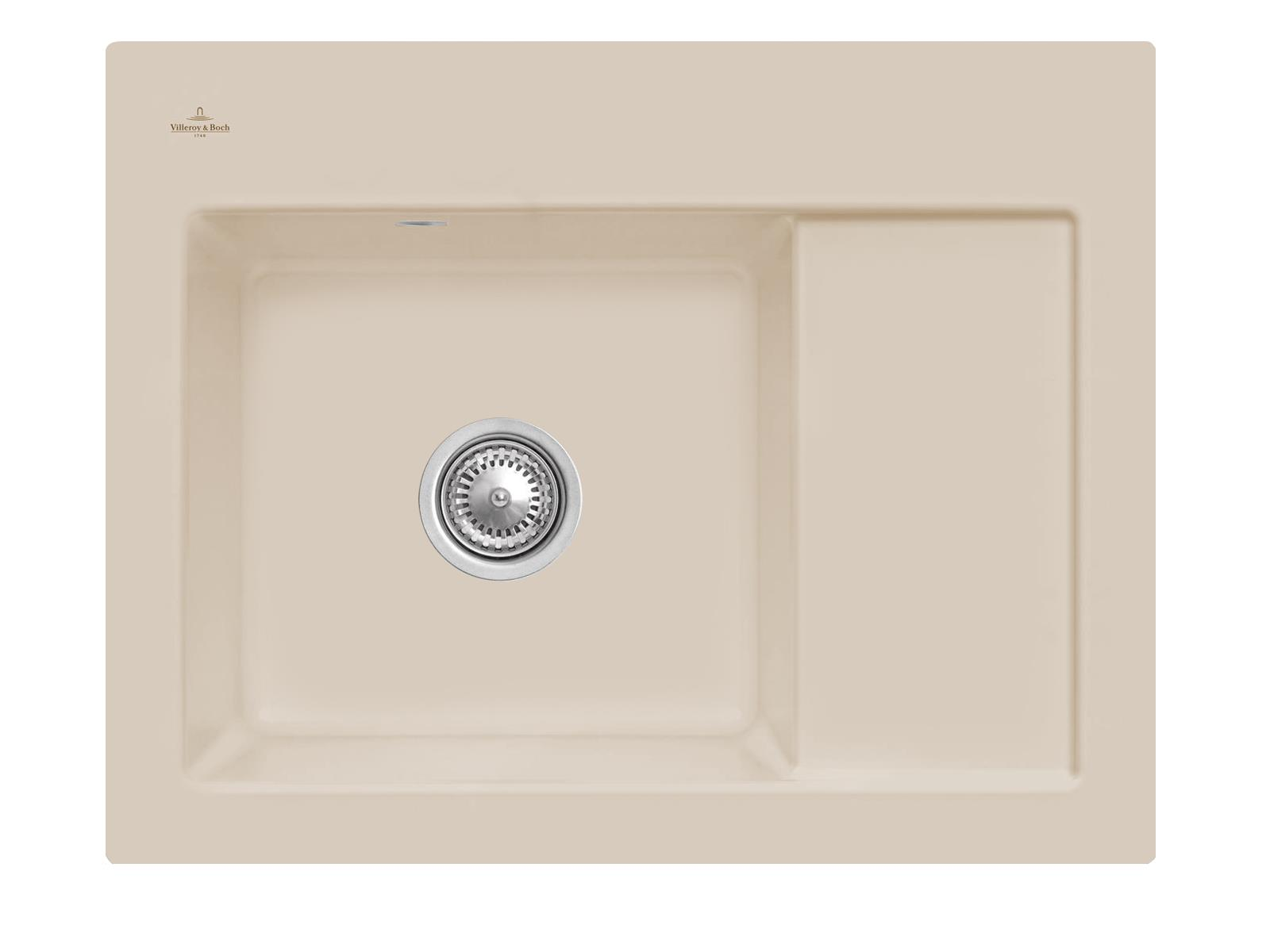 Villeroy & Boch Subway 45 Compact - 3312 01 AM Almond Keramikspüle Handbetätigung