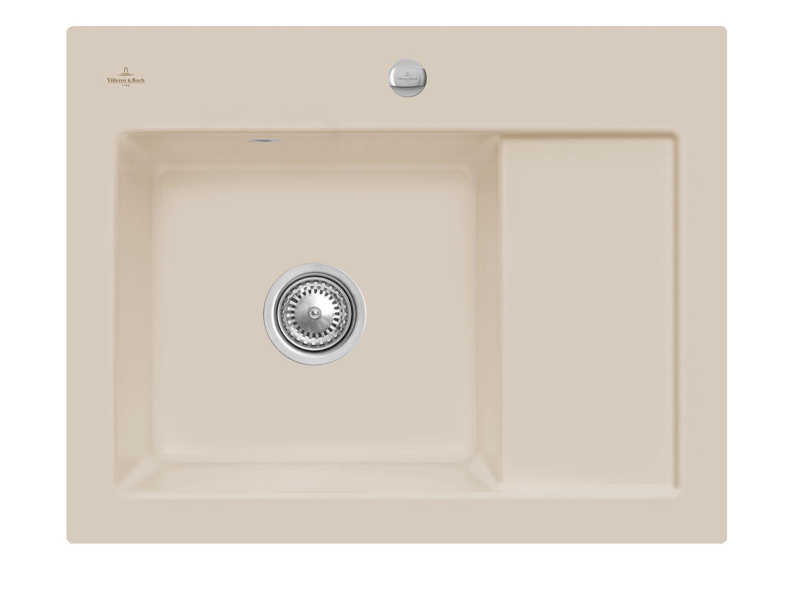 Villeroy & Boch Subway 45 Compact - 3312 02 AM Almond Keramikspüle Exzenterbetätigung