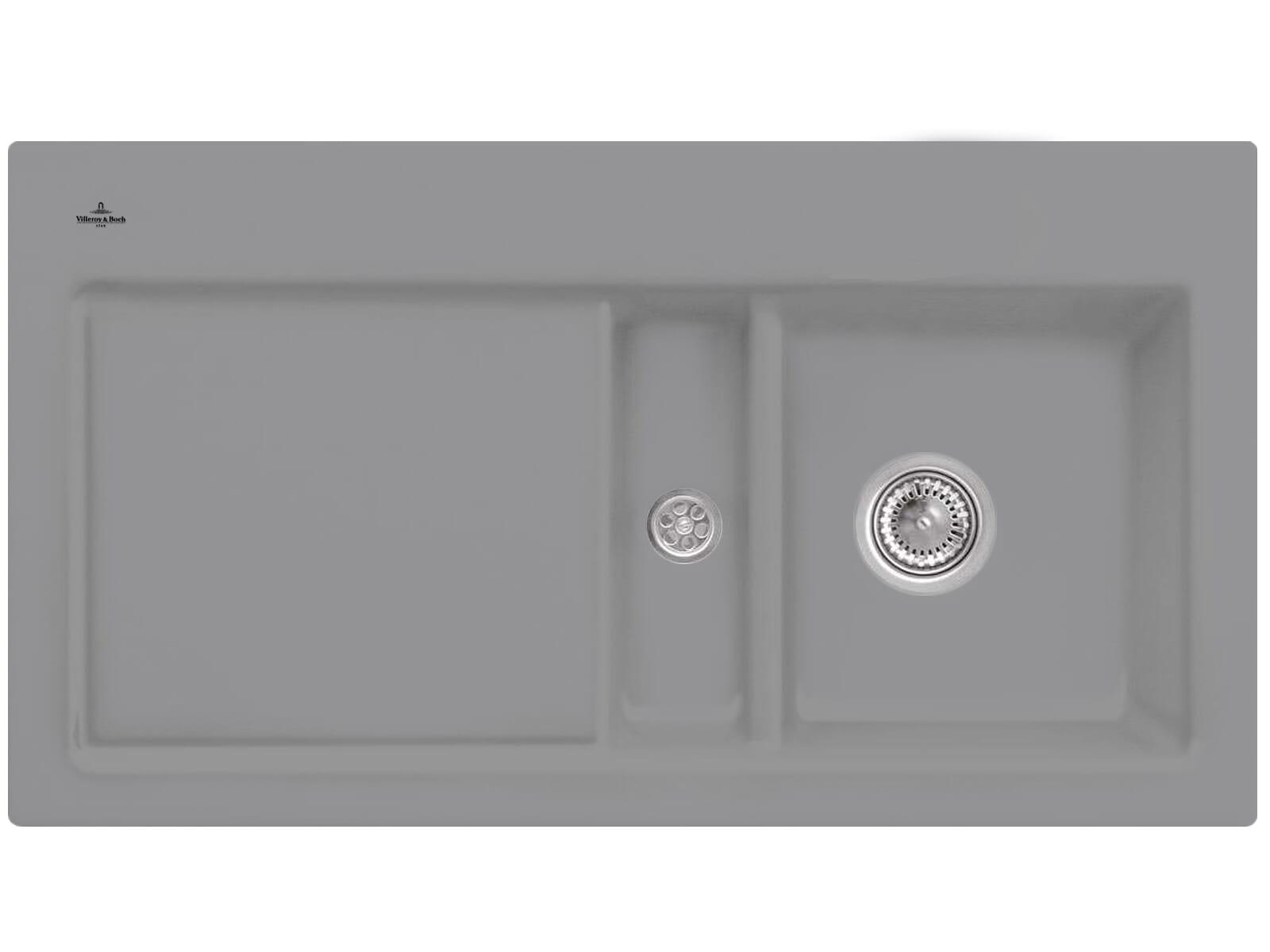 Villeroy & Boch Subway 50 Stone - 6713 01 SL Keramikspüle Handbetätigung