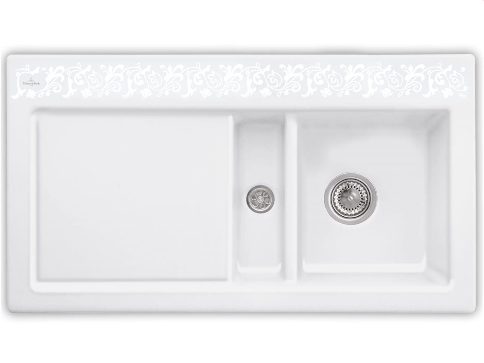 Villeroy & Boch Subway 50 White Pearl - 6713 01 KT Keramikspüle Handbetätigung