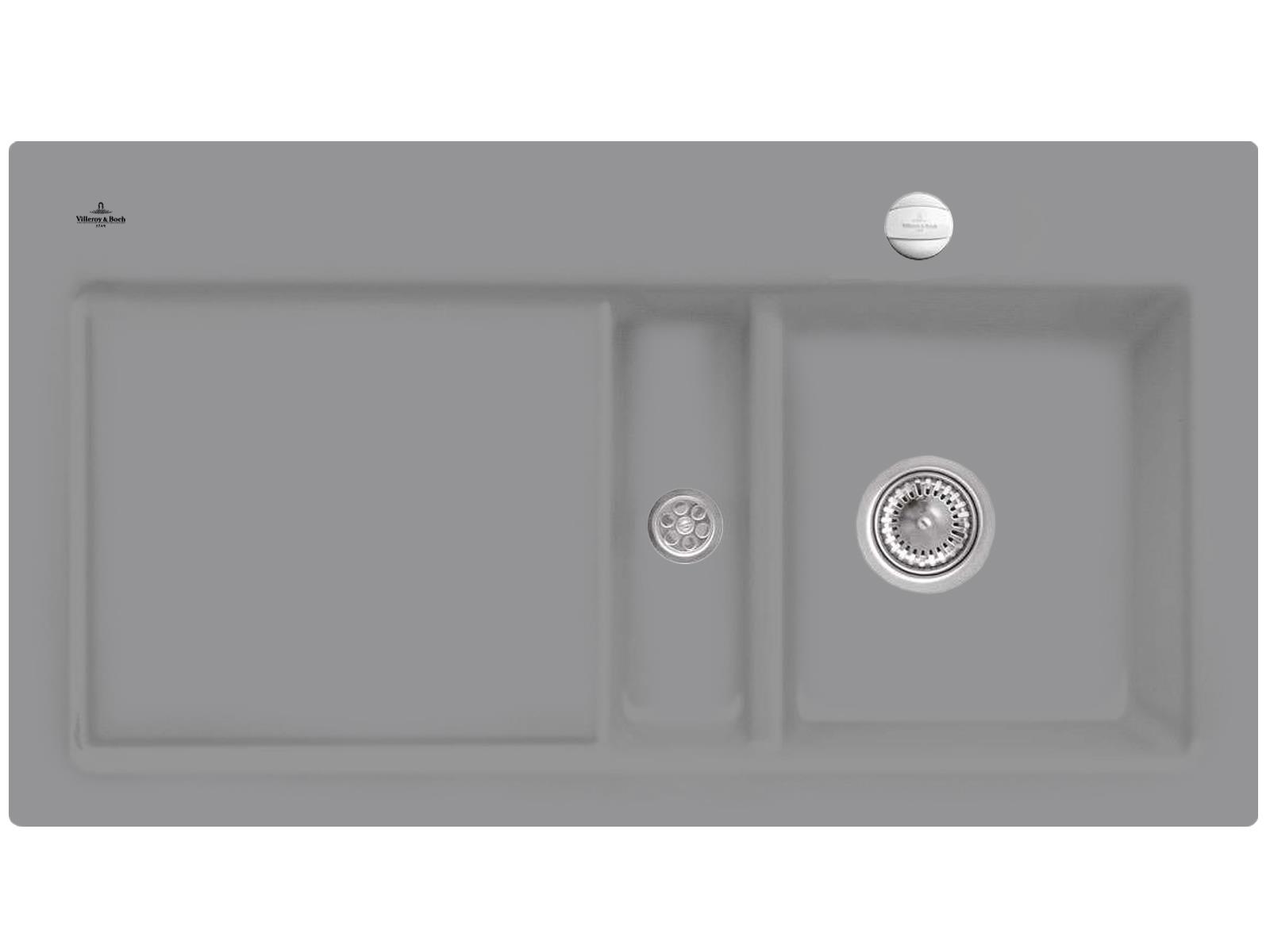 Villeroy & Boch Subway 50 Stone - 6713 02 SL Keramikspüle Exzenterbetätigung