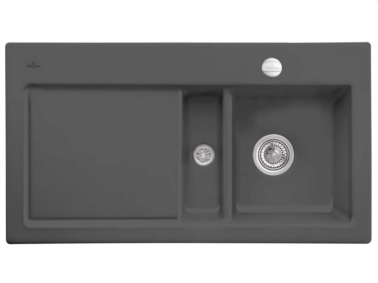 Produktabbildung Subway 50 mit Becken rechts und Excenterbetätigung in Graphit