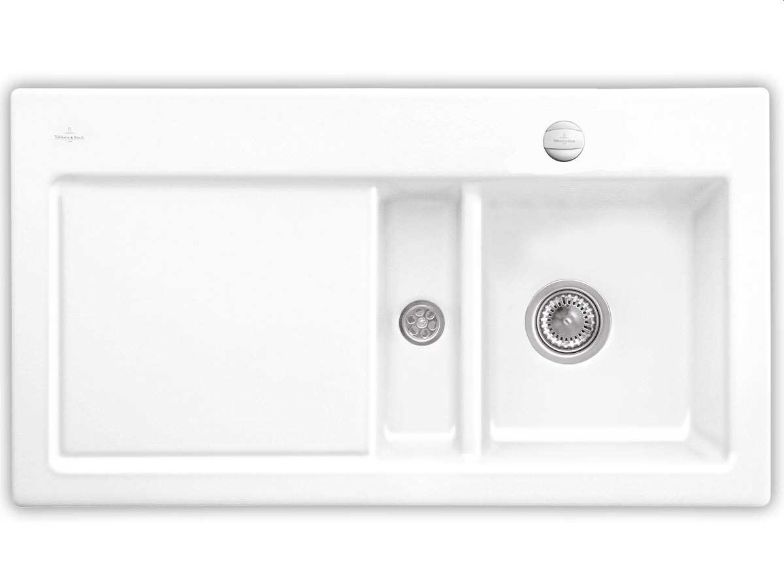 Villeroy & Boch Subway 50 Weiß (alpin) - 6713 02 R1 Keramikspüle Exzenterbetätigung