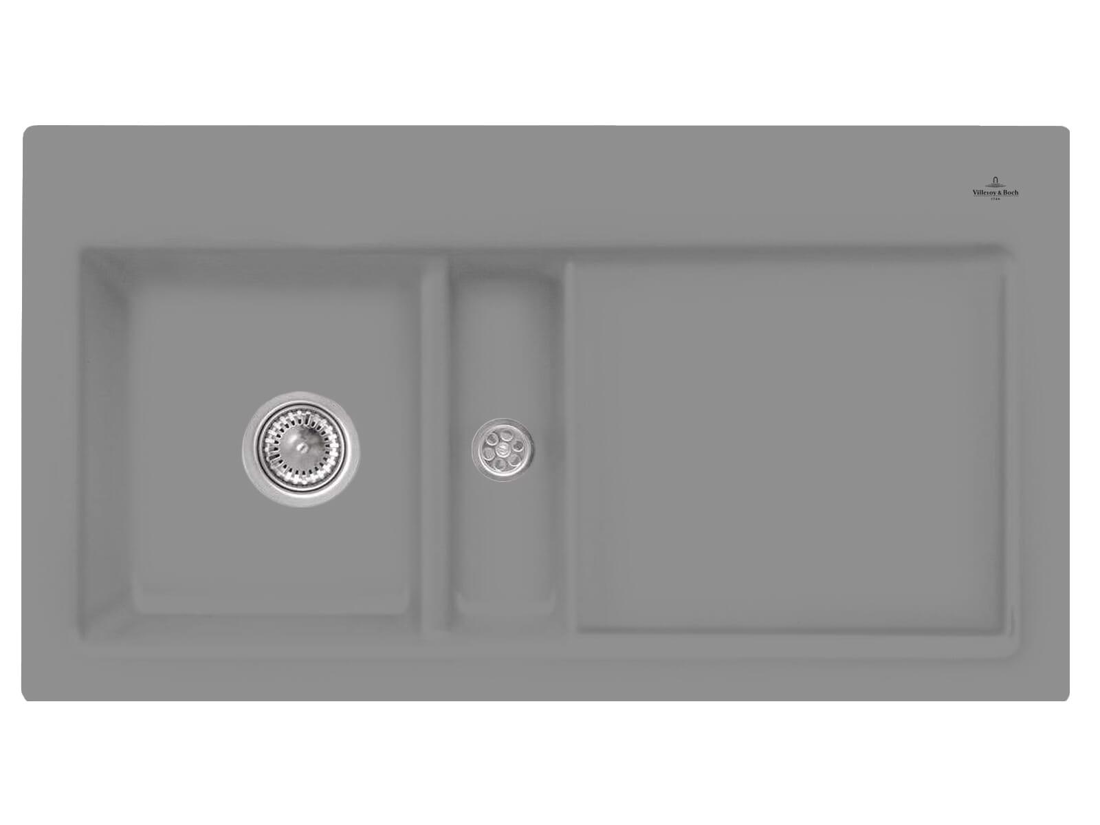 Villeroy & Boch Subway 50 Stone - 6773 01 SL Keramikspüle Handbetätigung