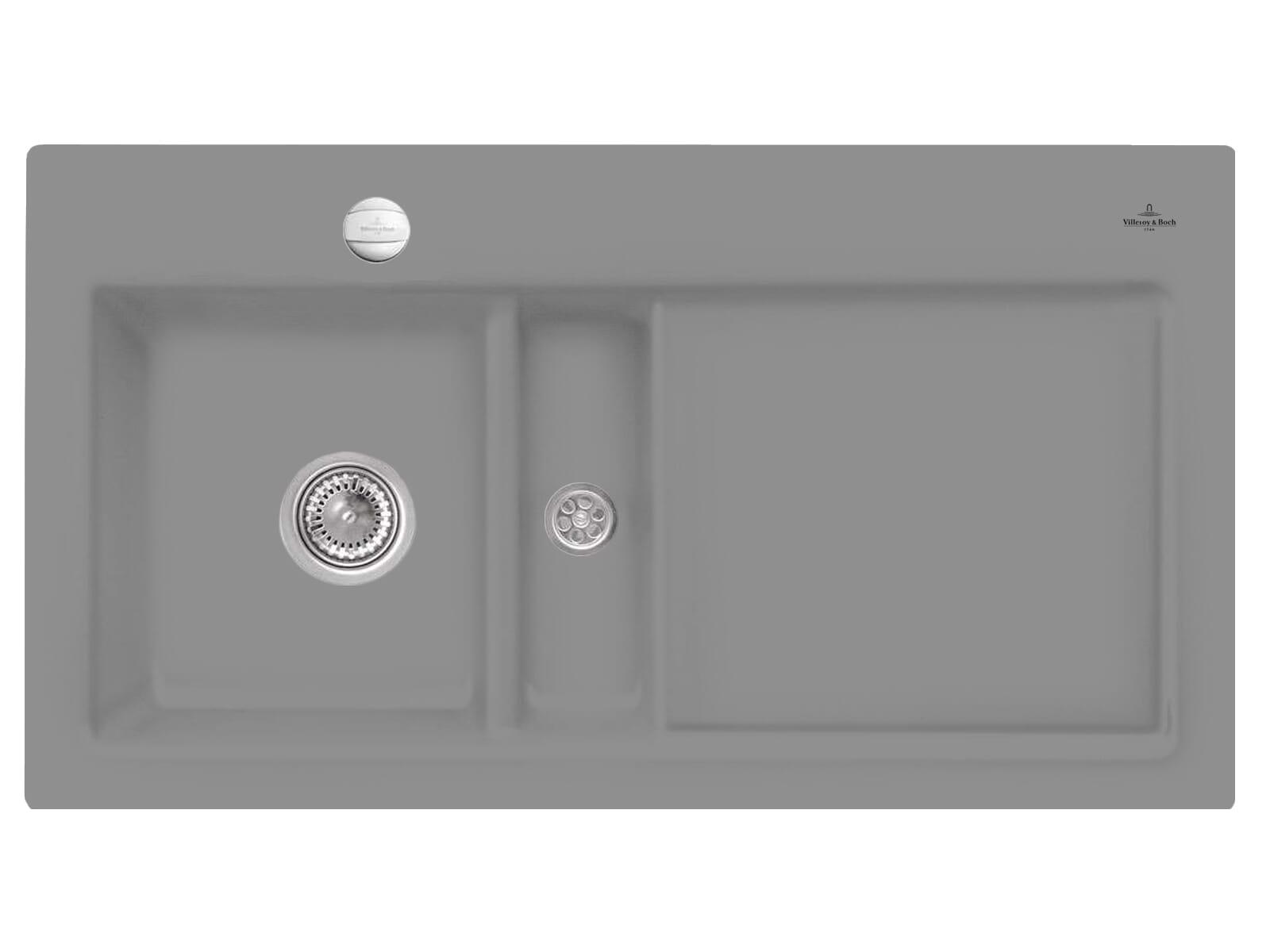 Villeroy & Boch Subway 50 Stone - 6773 02 SL Keramikspüle Exzenterbetätigung