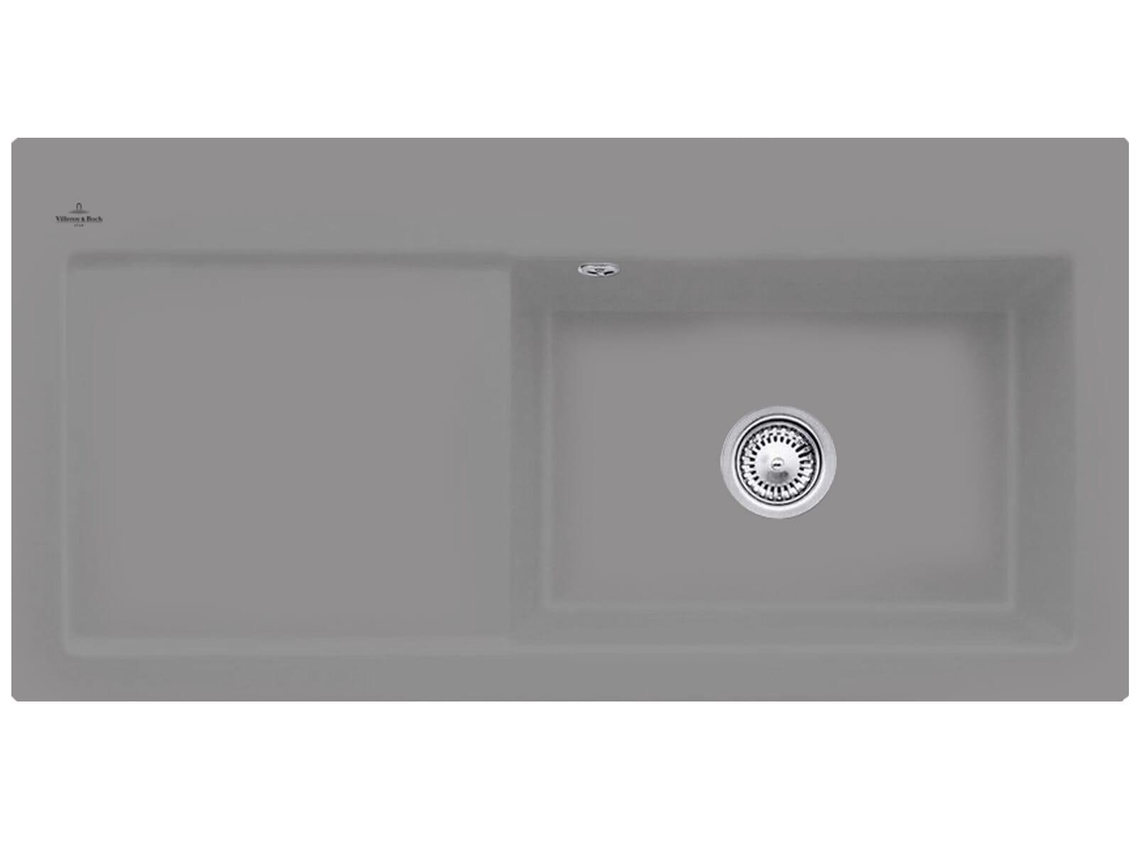 Villeroy & Boch Subway 60 XL Stone - 6719 01 SL Keramikspüle Handbetätigung