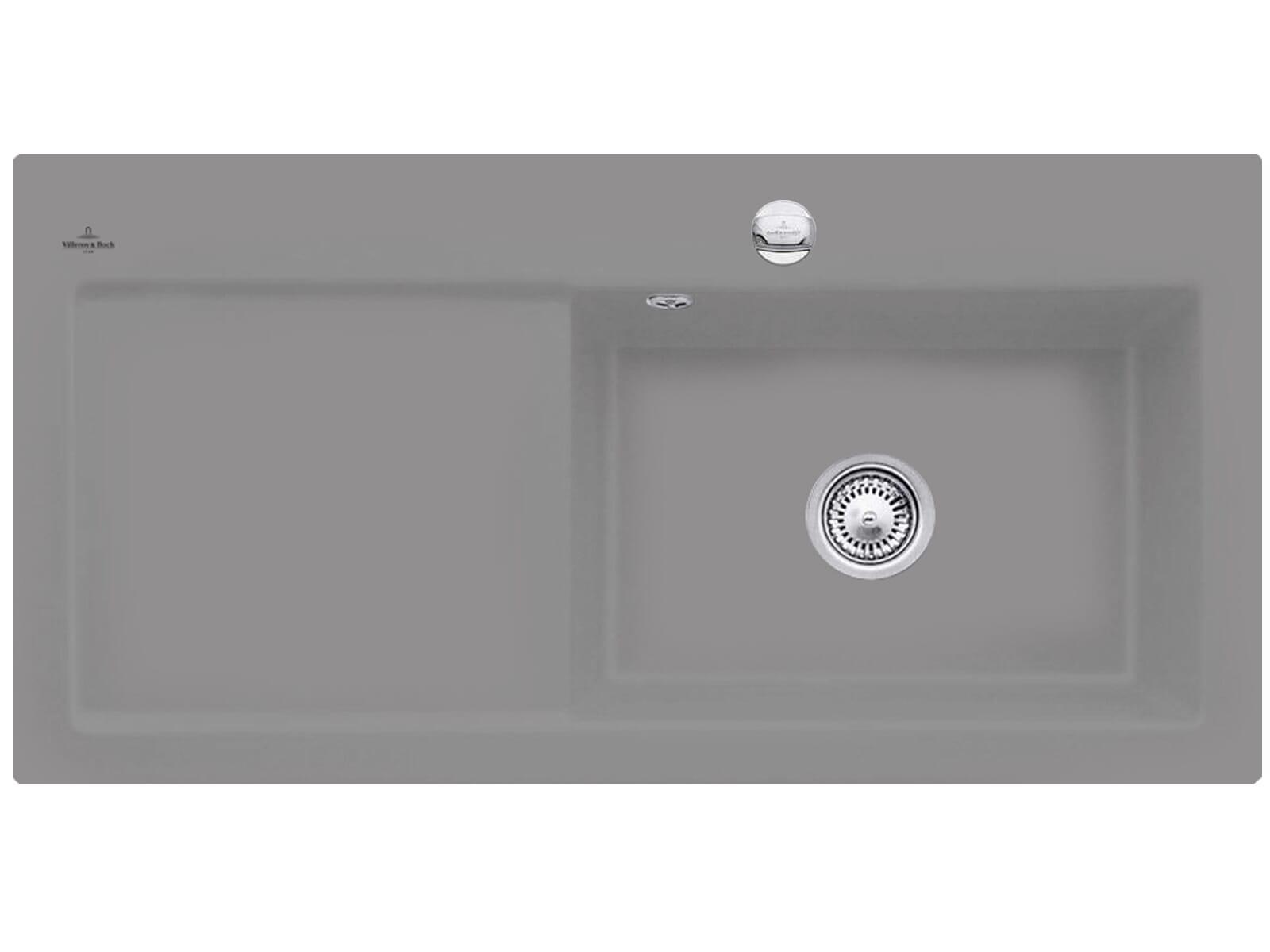 Villeroy & Boch Subway 60 XL Stone - 6719 02 SL Keramikspüle Exzenterbetätigung