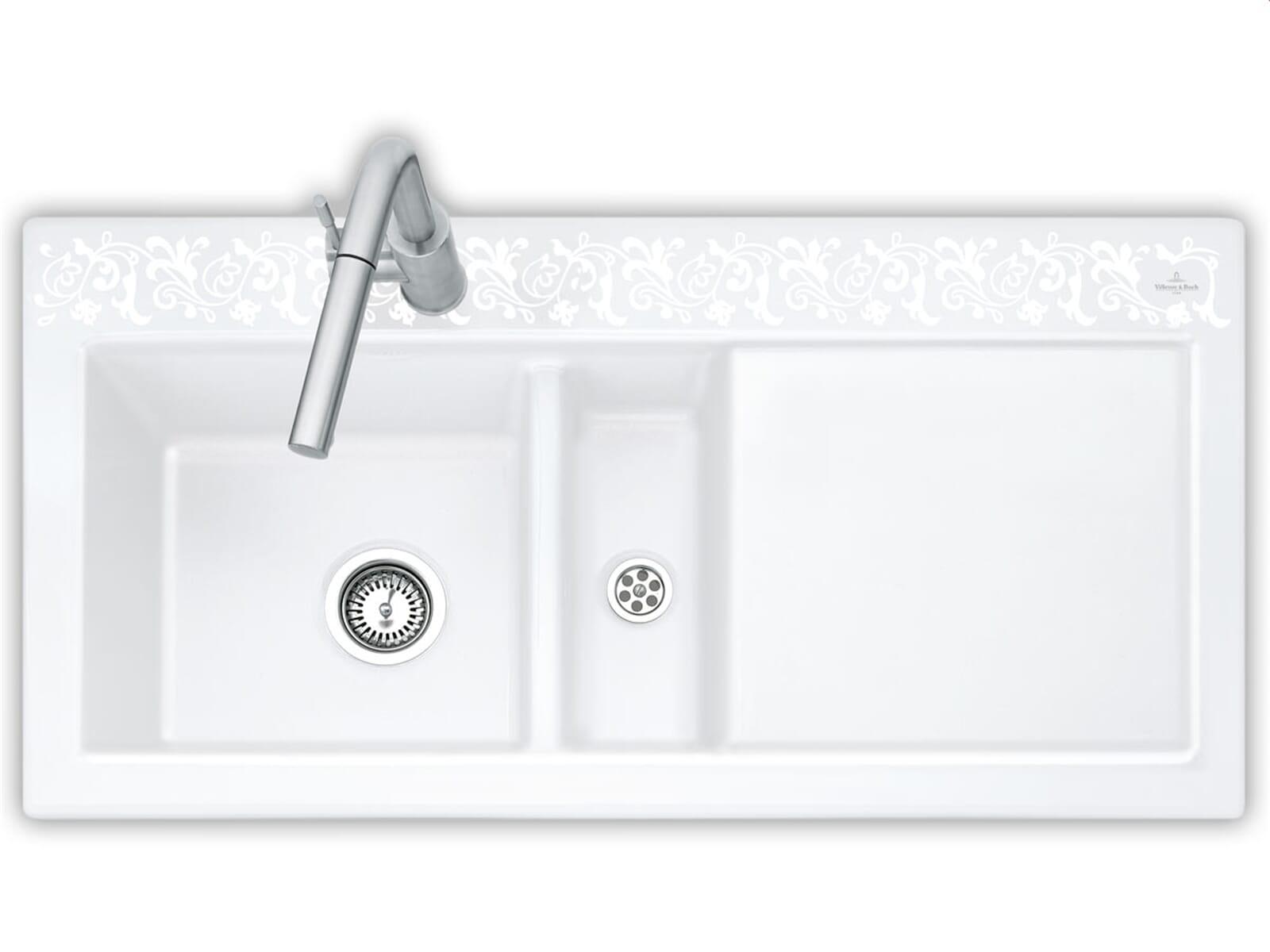 villeroy boch subway 60 white pearl 6770 01 kt. Black Bedroom Furniture Sets. Home Design Ideas
