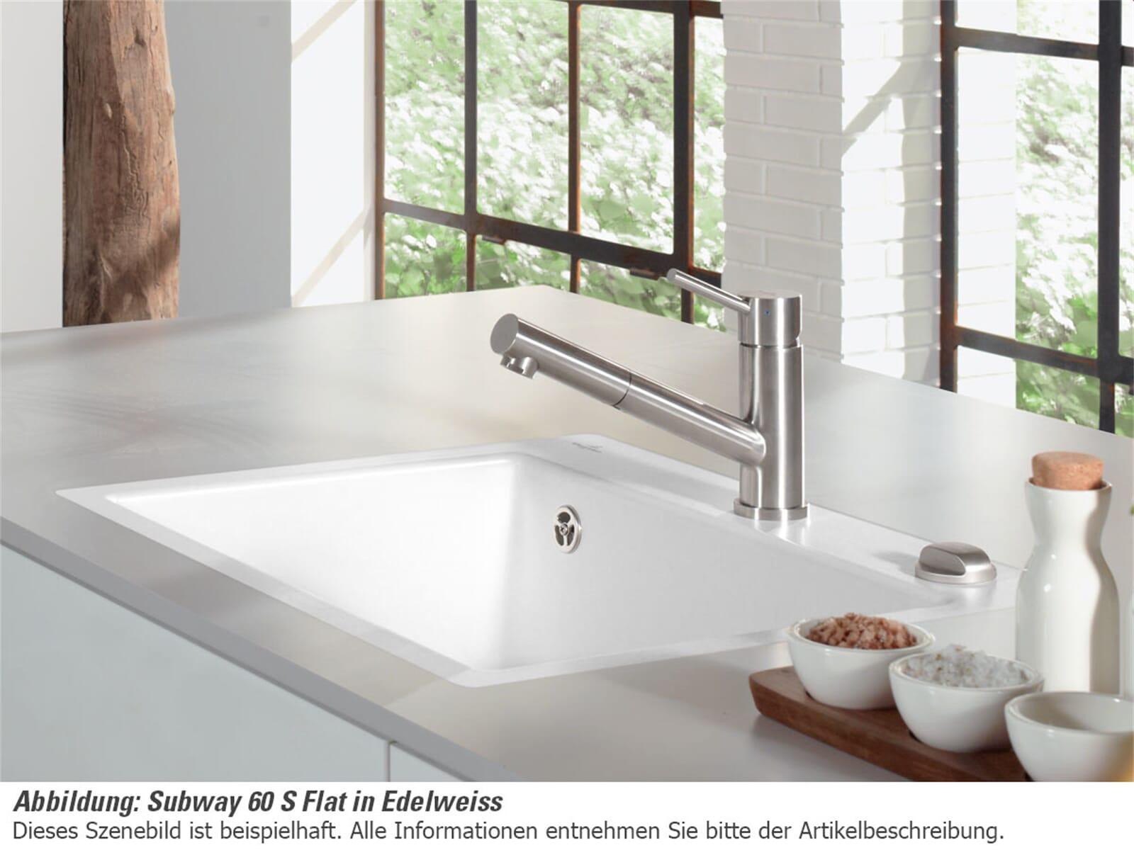 Villeroy & Boch Subway 60 S Flat Ebony - 3309 2F S5 Keramikspüle | {Spülbecken keramik villeroy & boch 81}