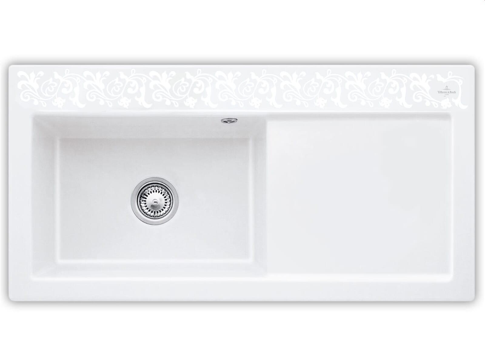 Produktabbildung Subway 60 XL mit Becken links und Handbetätigung in White Pearl