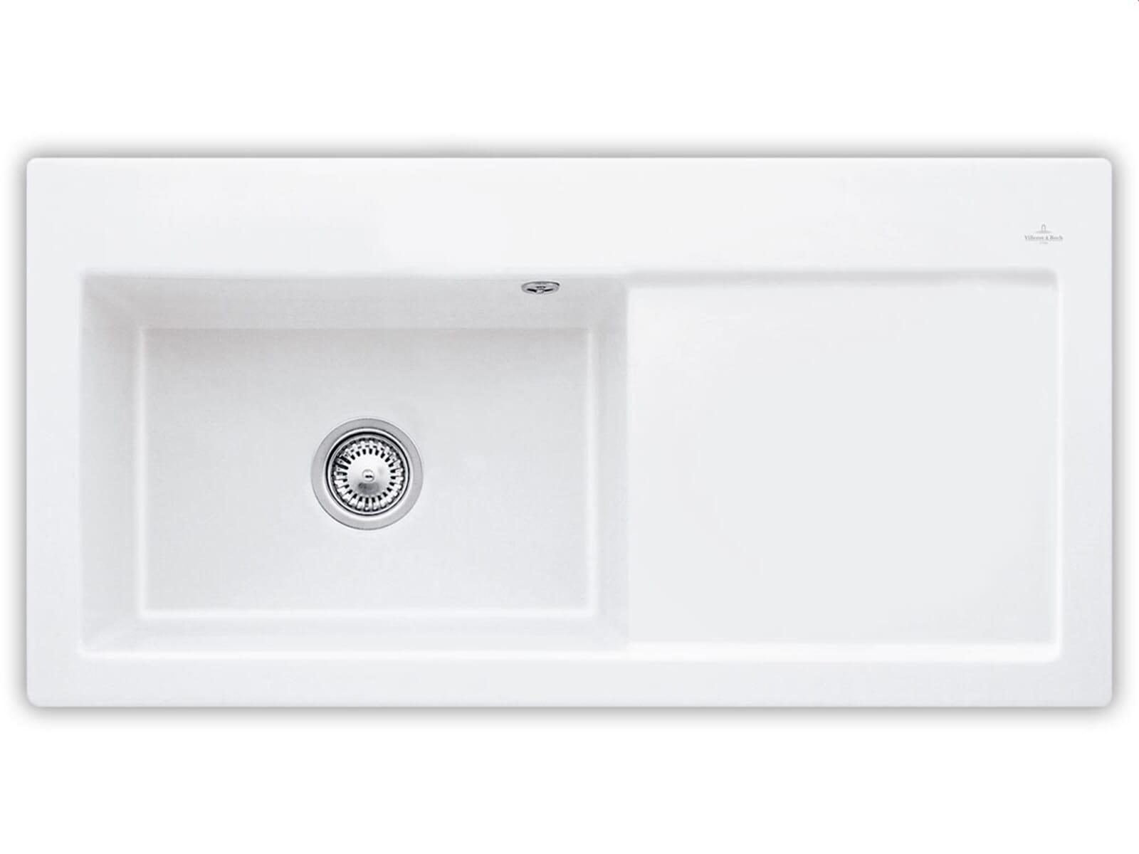 Villeroy & Boch Subway 60 XL Weiß (alpin) - 6718 01 R1 Keramikspüle Handbetätigung