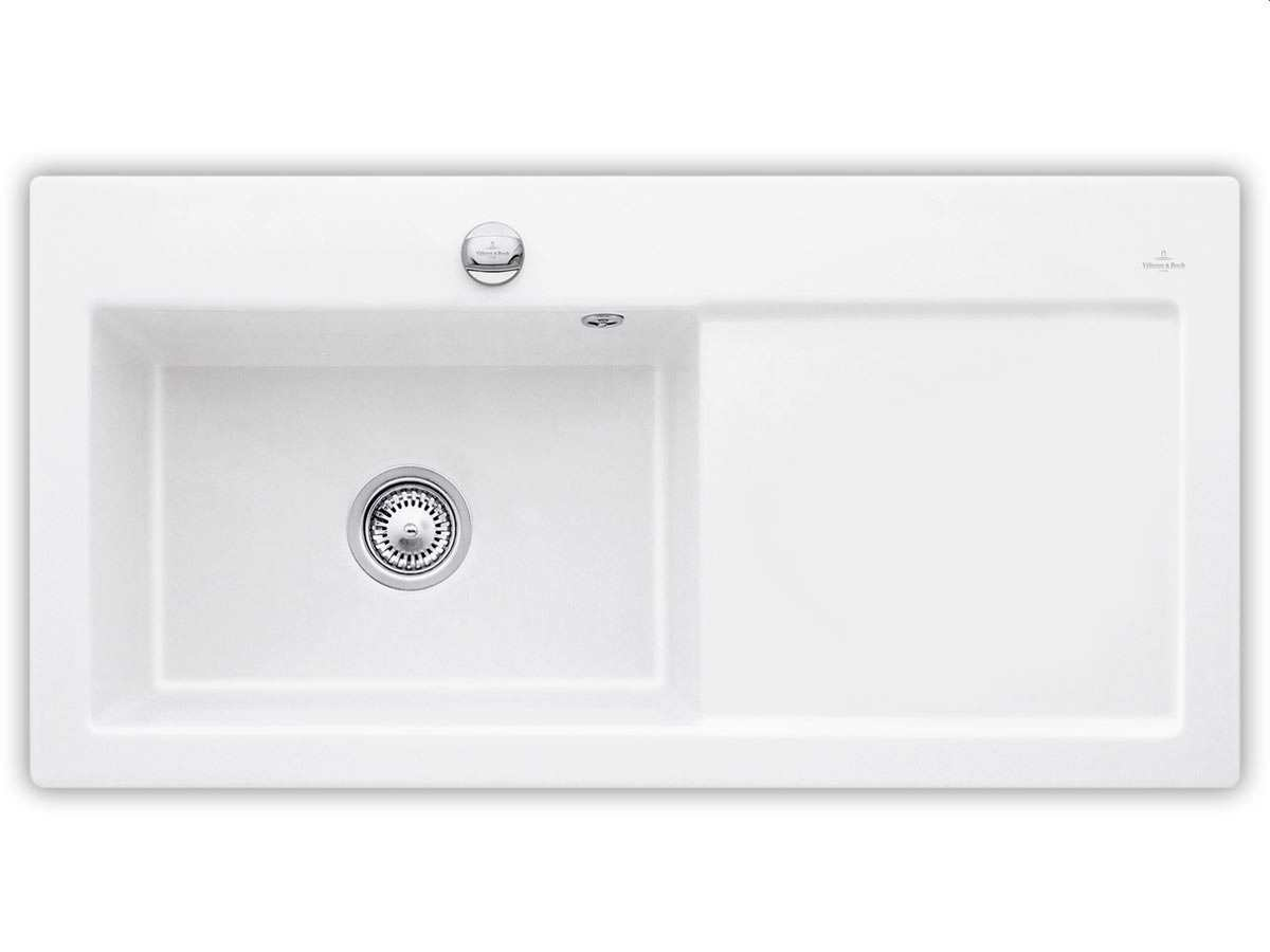 Villeroy & Boch Subway 60 XL Weiß (alpin) - 6718 02 R1 Keramikspüle Exzenterbetätigung