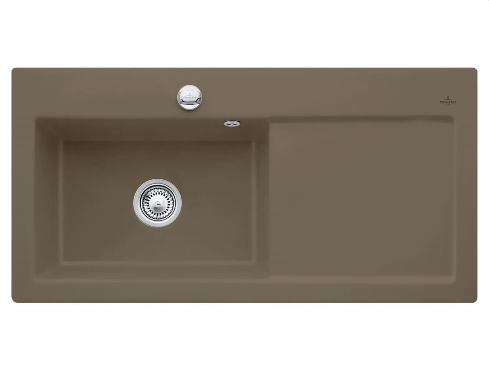 Villeroy & Boch Subway 60 XL Timber - 6718 02 TR Keramikspüle Exzenterbetätigung