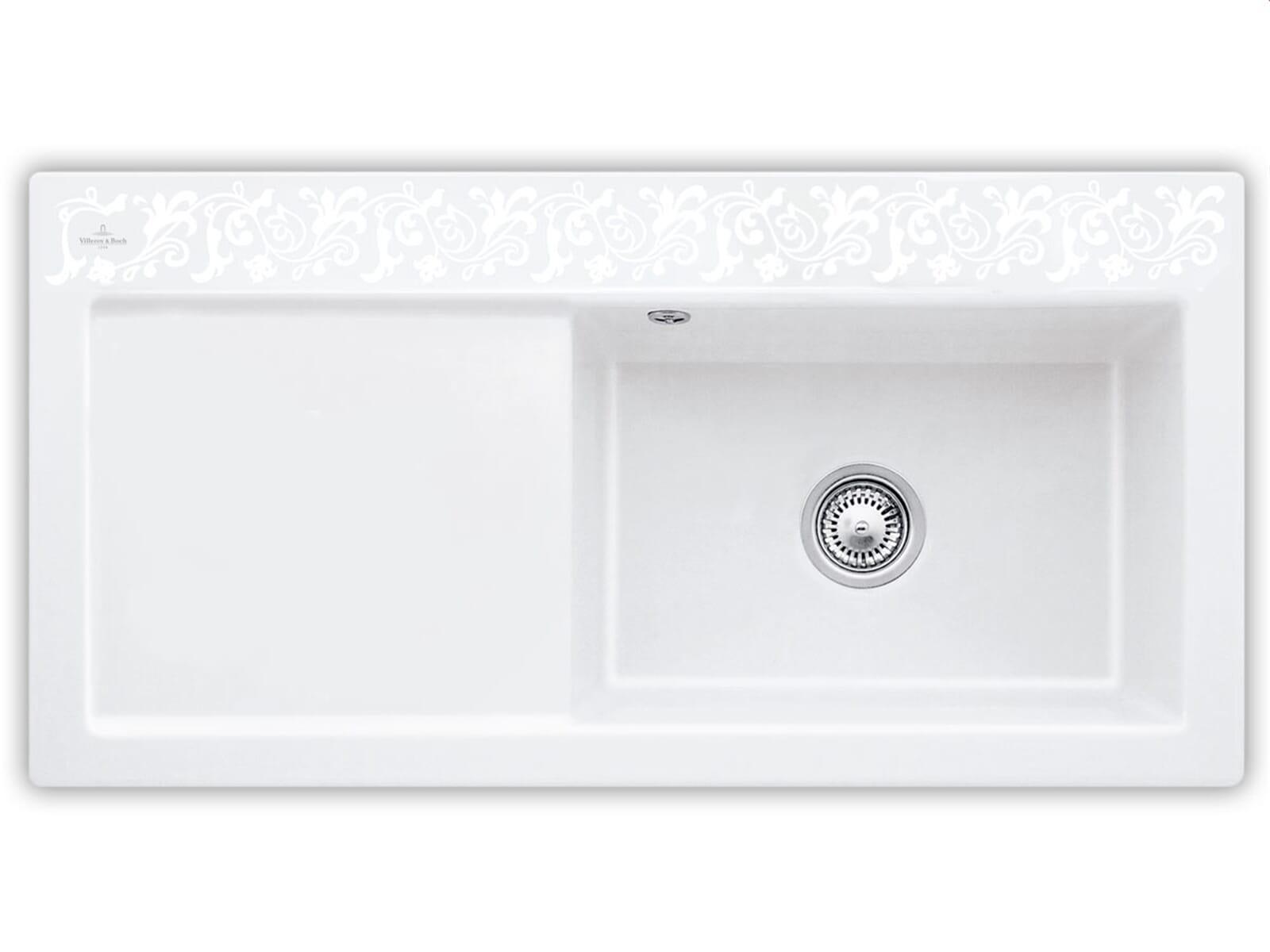 Produktabbildung Subway 60 XL mit Becken rechts und Handbetätigung in White Pearl
