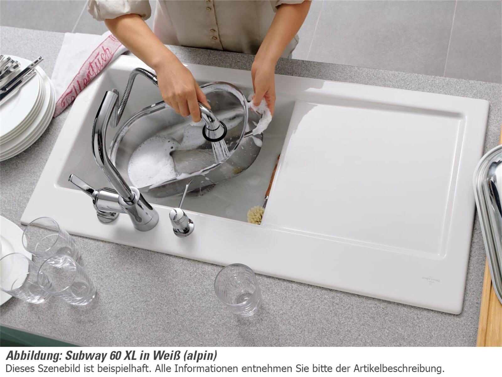 Villeroy & Boch Subway 60 XL Ebony - 6718 02 S5 Keramikspüle Exzenterbetätigung