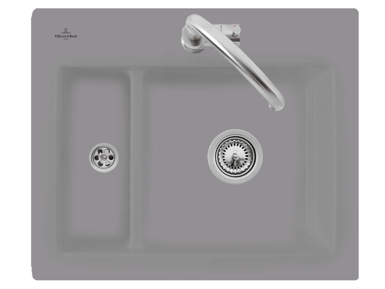 Villeroy & Boch Subway 60 XM Stone - 6780 01 SL Keramikspüle Handbetätigung