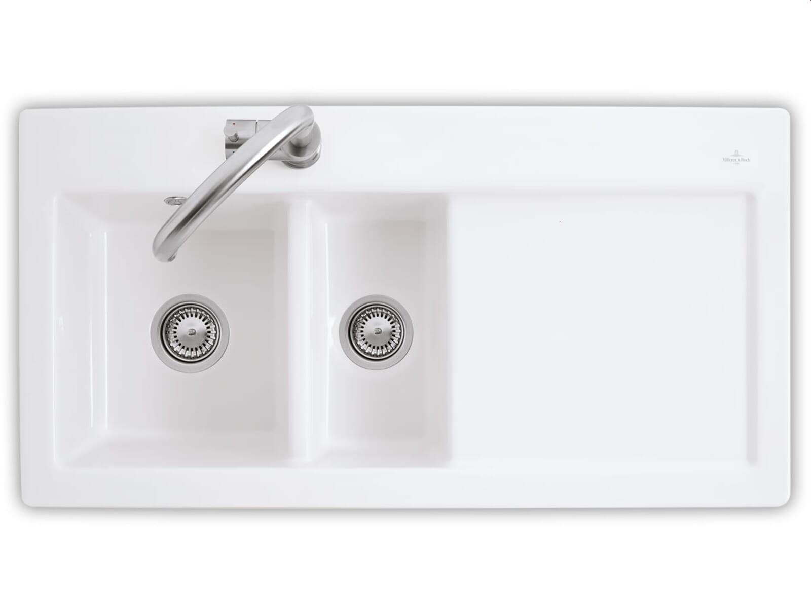 Produktabbildung Subway 60 XR mit Becken links und Handbetätigung in Edelweiss
