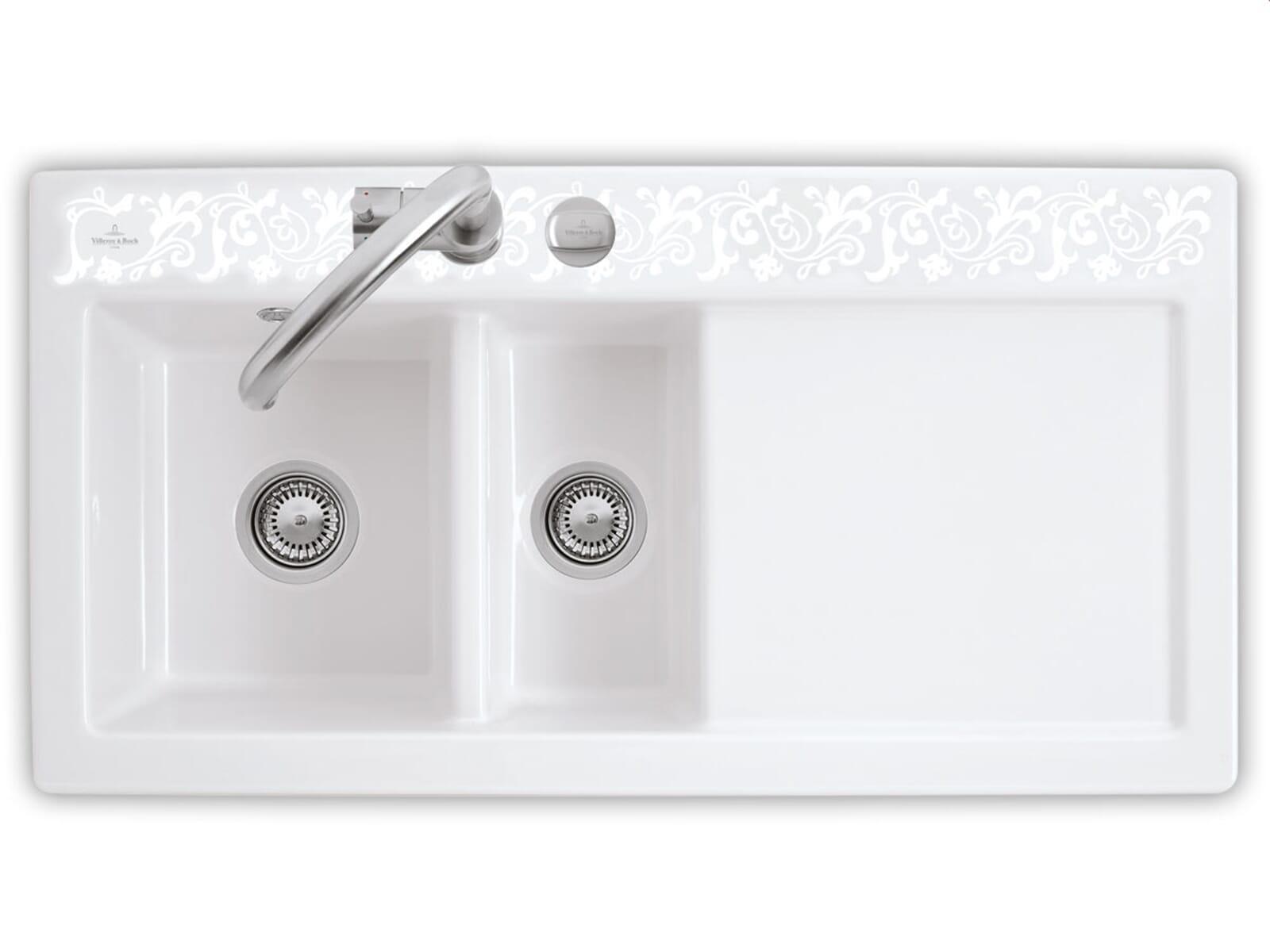 Villeroy & Boch Subway 60 XR White Pearl - 6720 02 KT Keramikspüle Exzenterbetätigung
