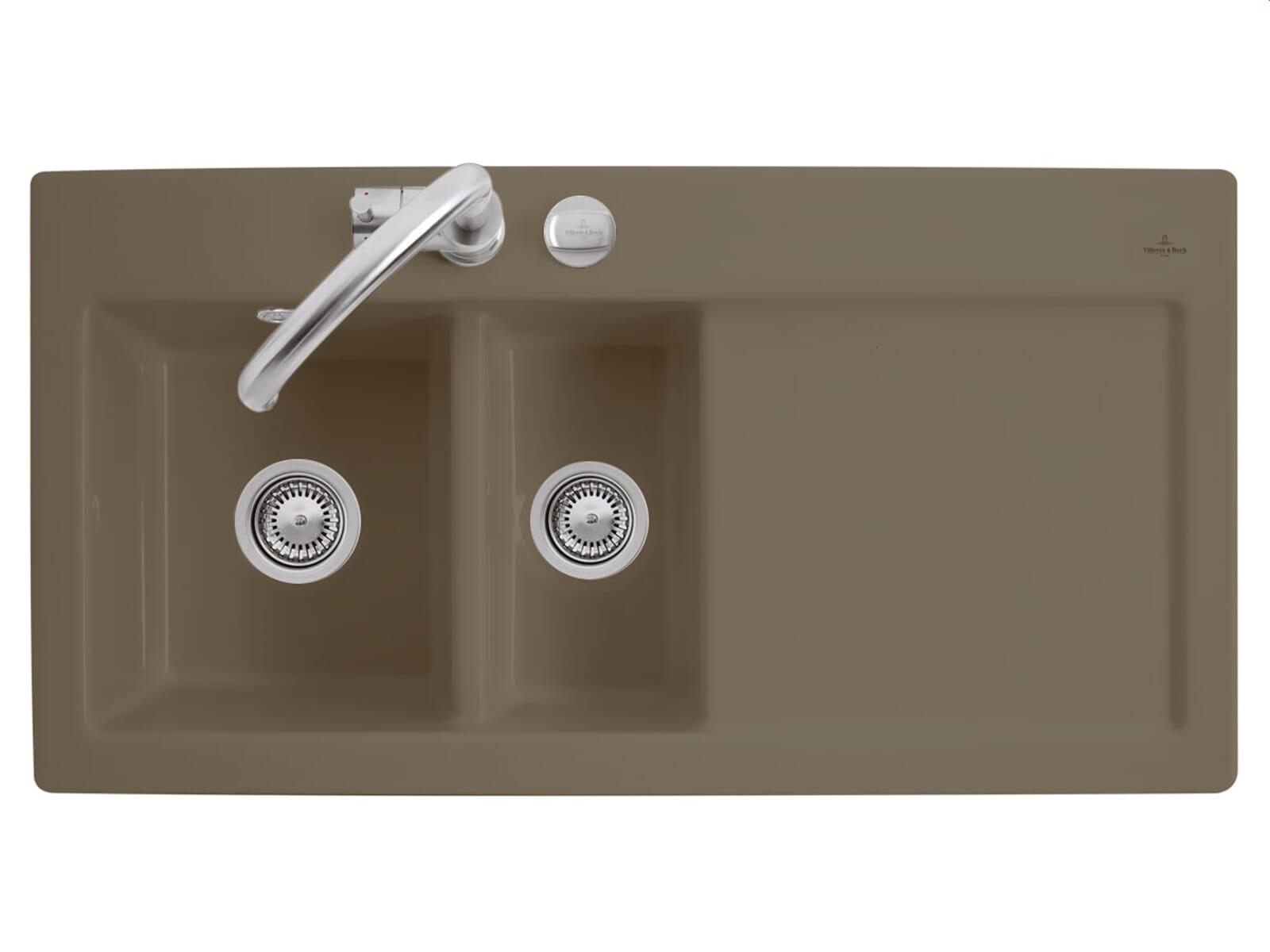 Villeroy & Boch Subway 60 XR Timber - 6720 02 TR Keramikspüle Exzenterbetätigung
