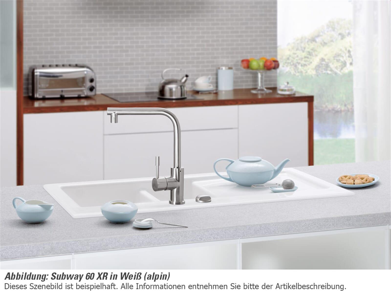 Villeroy & Boch Subway 60 XR Ebony - 6720 02 S5 Keramikspüle Exzenterbetätigung