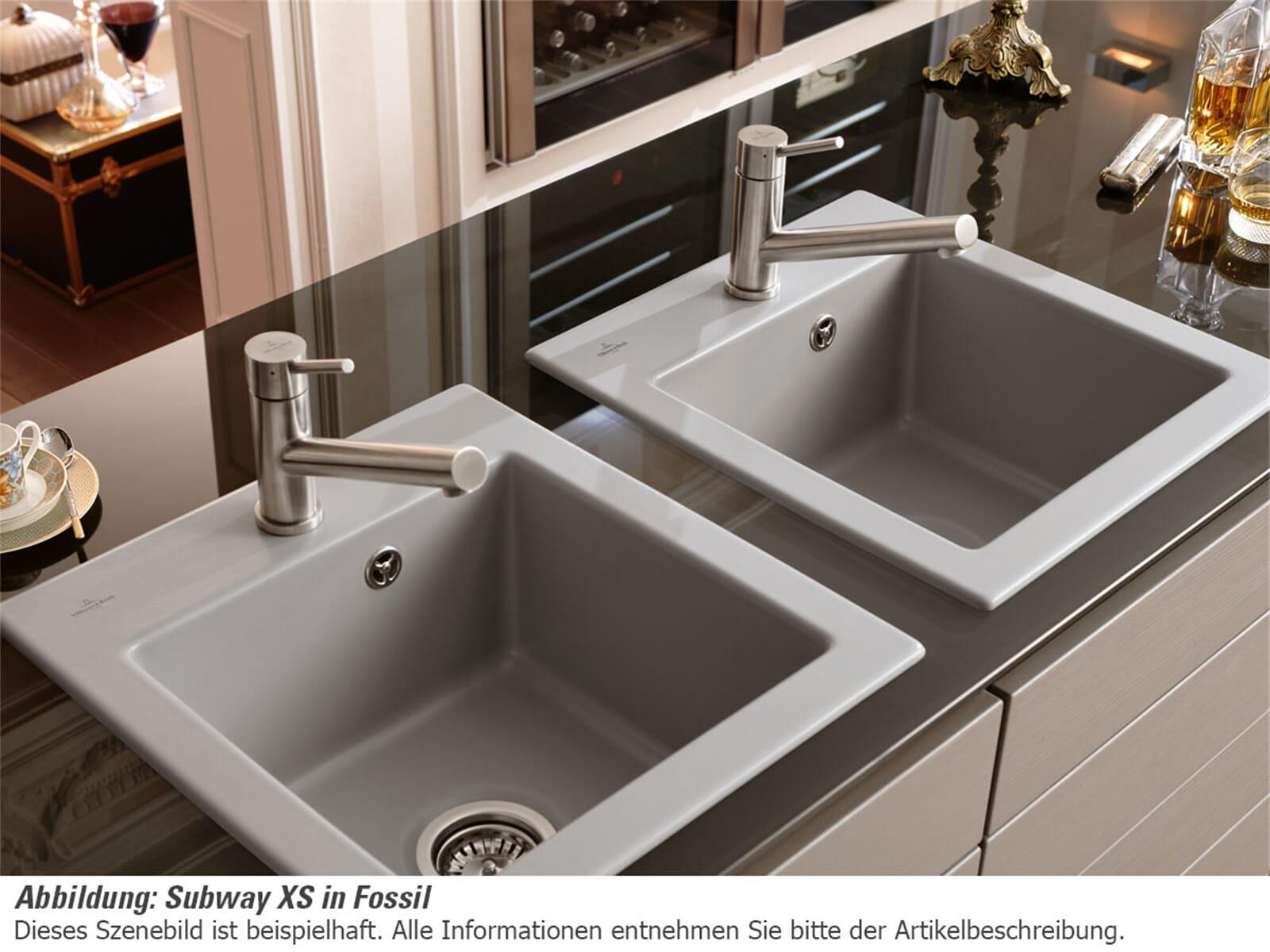 Villeroy & Boch Subway 45 XS Graphit - 6781 01 i4 Keramikspüle Handbetätigung