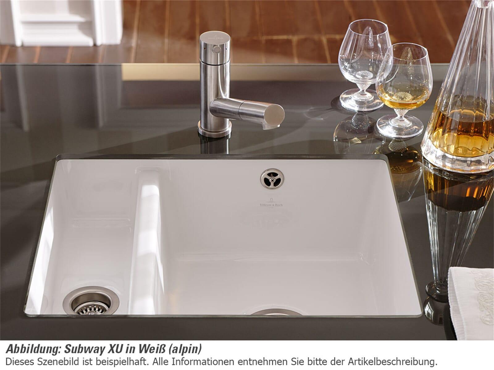 Villeroy & Boch Subway 60 XU Ivory - 6758 01 FU Keramikspüle Handbetätigung