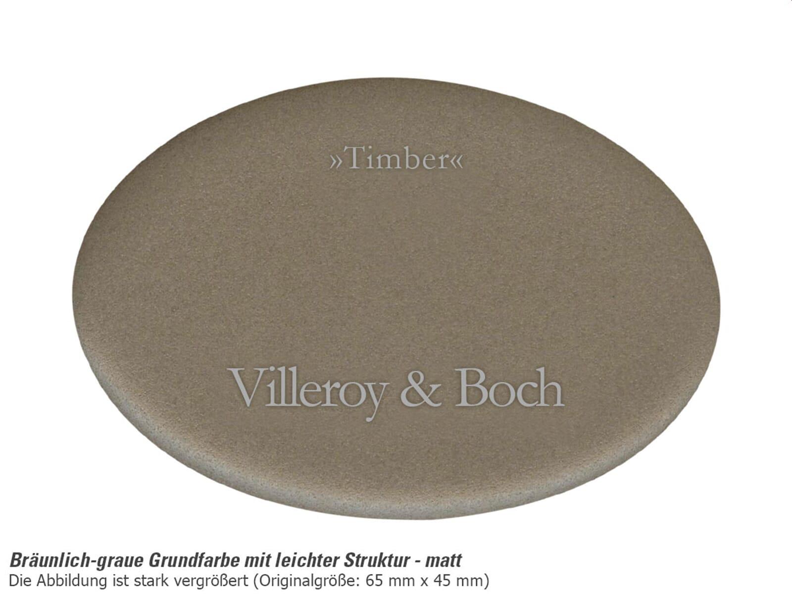 Villeroy & Boch Subway 45 Timber - 6714 02 TR Keramikspüle Exzenterbetätigung