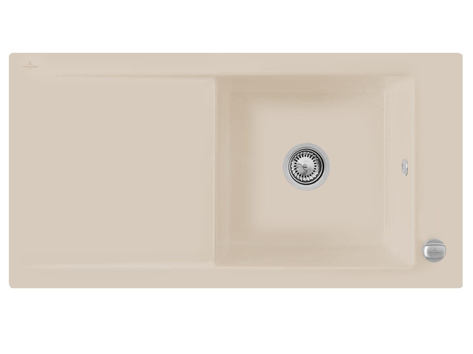 Villeroy & Boch Timeline 60 Almond - 6790 02 AM Keramikspüle Exzenterbetätigung