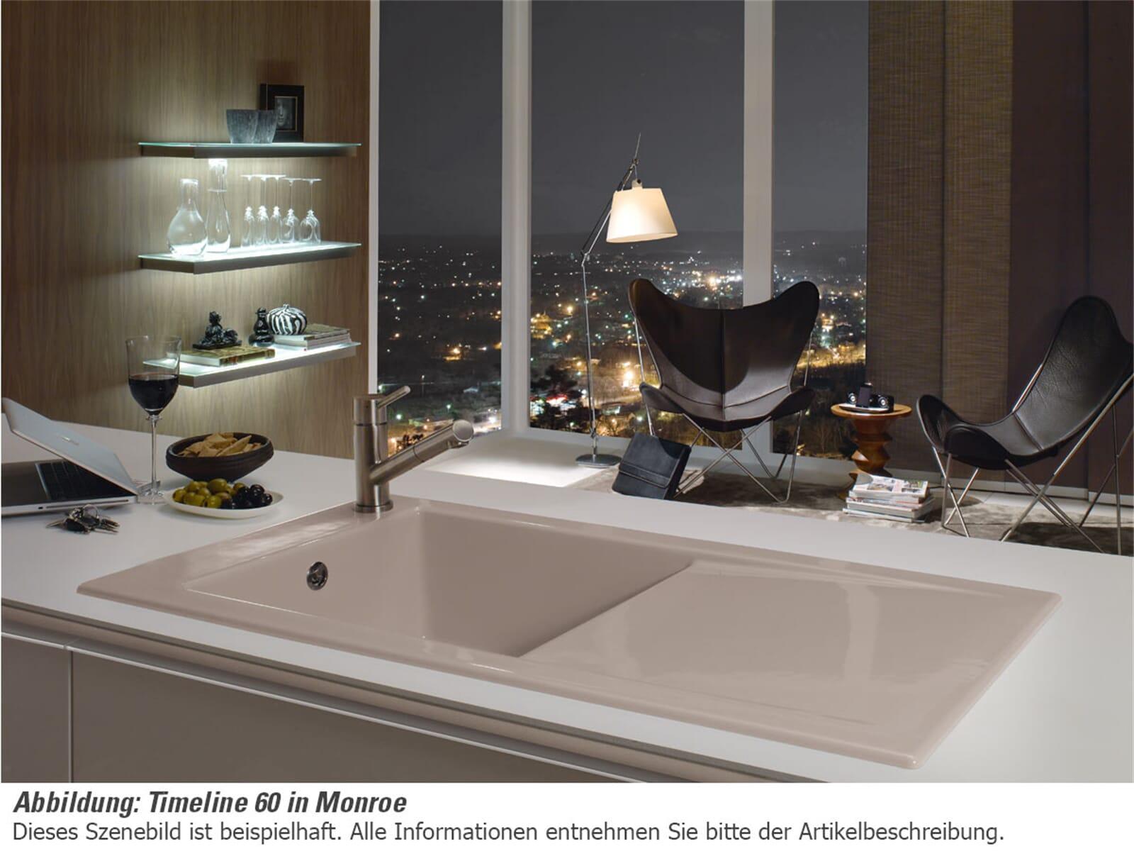 Villeroy & Boch Timeline 60 Ebony - 6790 01 S5 Keramikspüle Handbetätigung