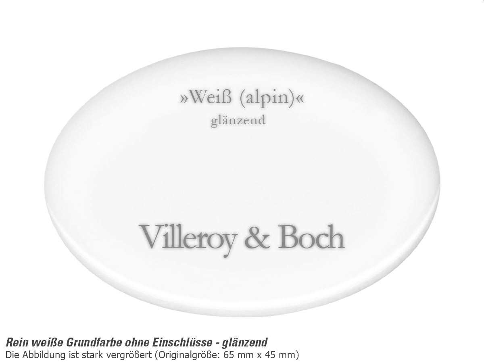 Villeroy & Boch Timeline 45 Weiß (alpin) - 6791 02 R1 Keramikspüle Exzenterbetätigung