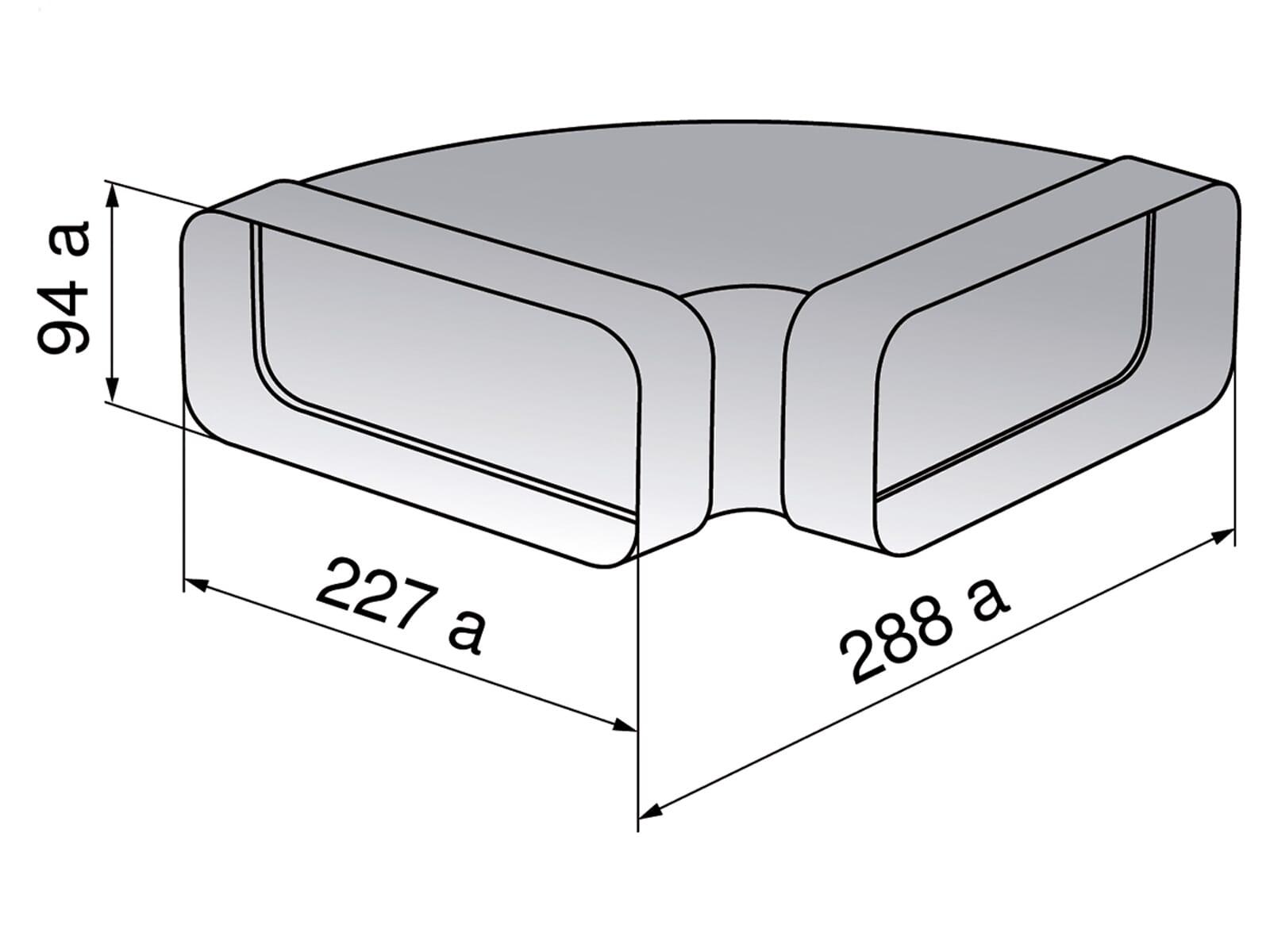 V-ZUG 1012784 Bogen 90°