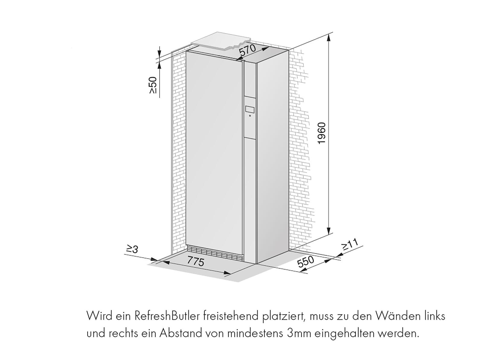 V-ZUG 1400360000 RefreshButler V6000  Dampfschrank Schwarz