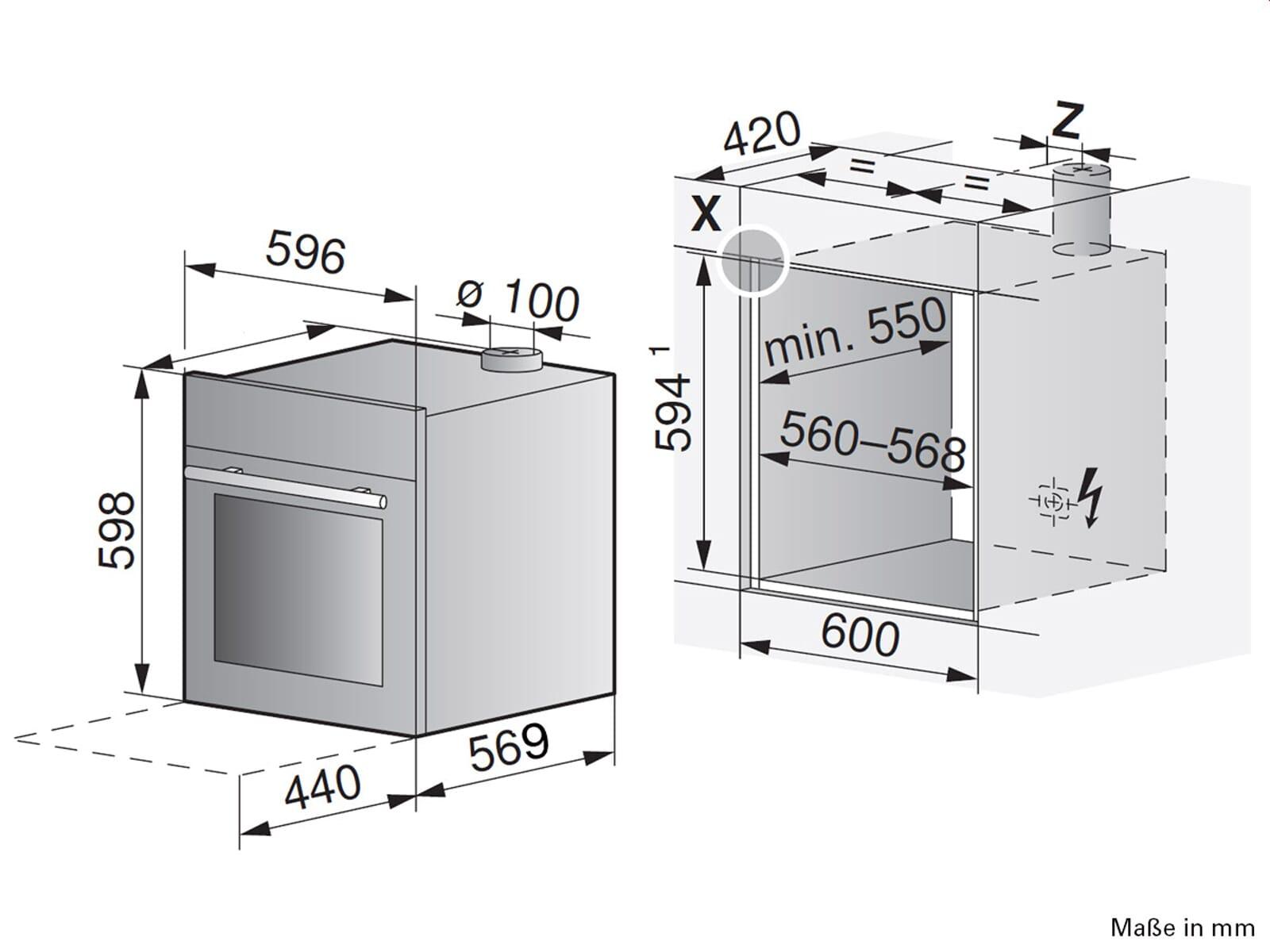 V-ZUG Combair SEP 60 Pyrolyse Backofen Spiegelglas