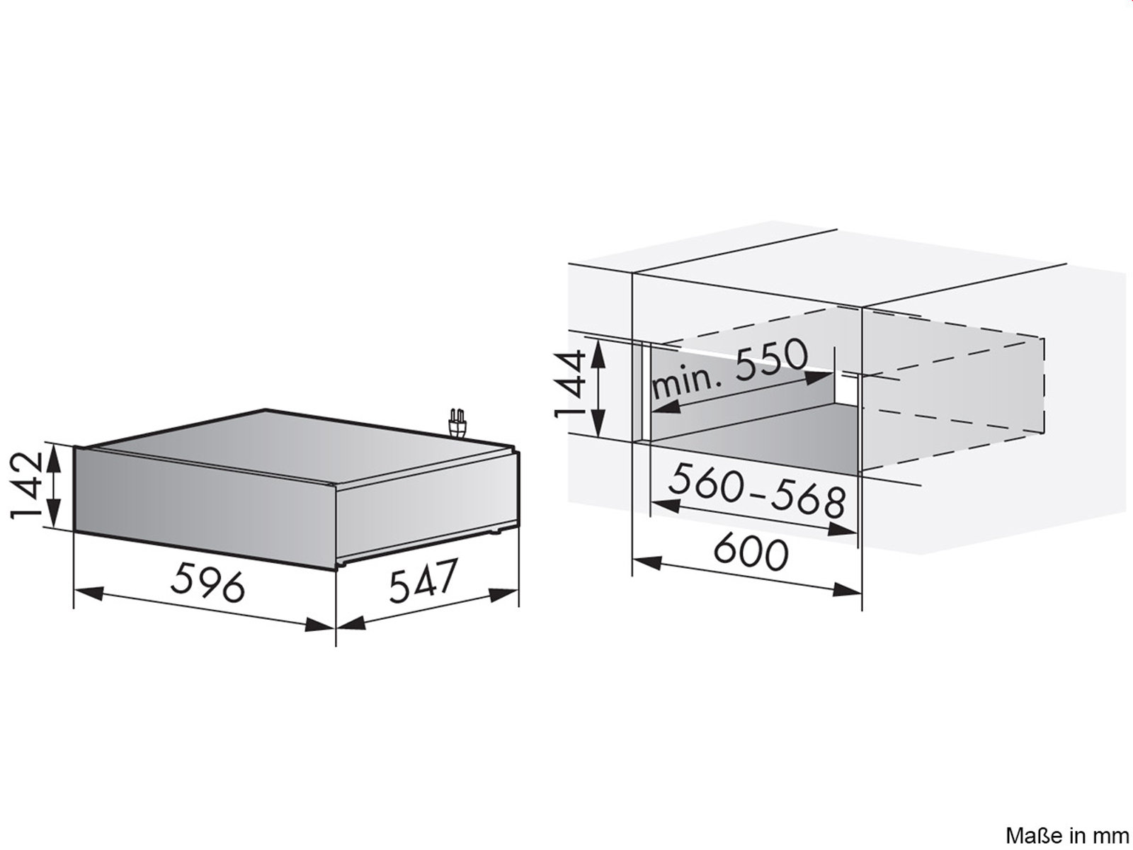 V-ZUG Wärmeschublade 60 144 Spiegelglas