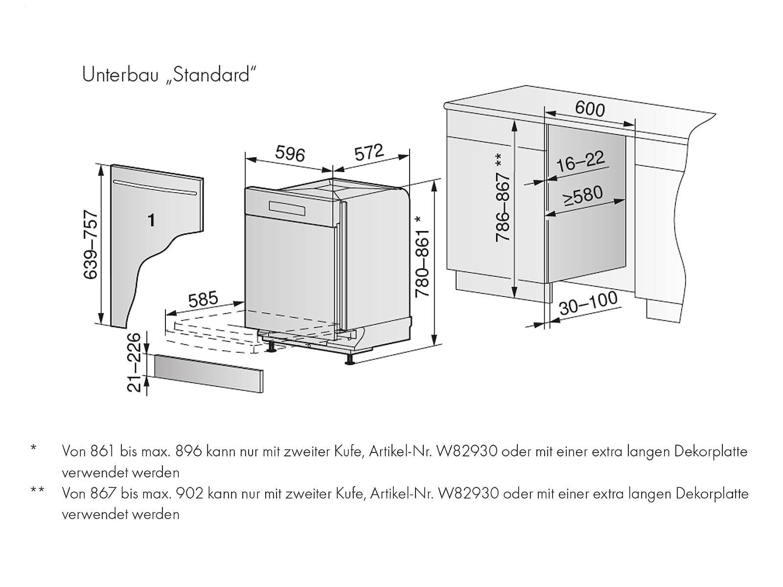 V-ZUG Adora 4111200008 V4000  Vollintegrierbarer Einbaugeschirrspüler