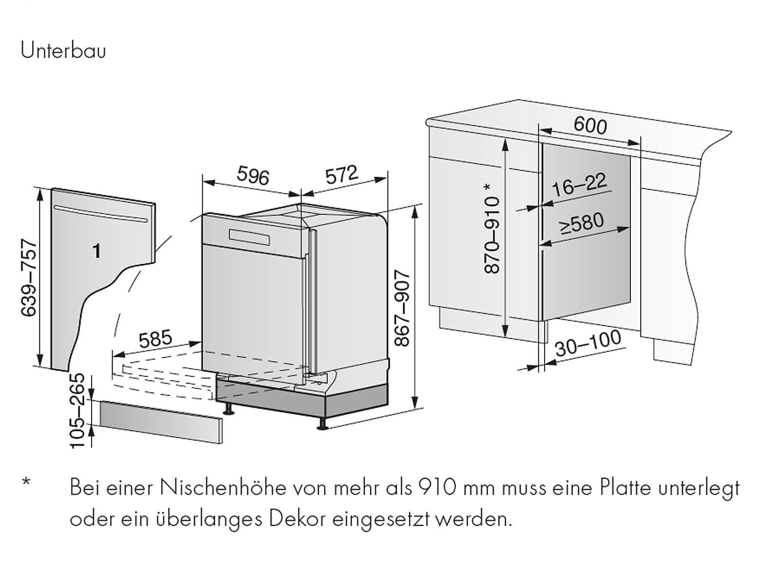 V-ZUG Adora 4112100004  V6000  Vollintegrierbarer Einbaugeschirrspüler