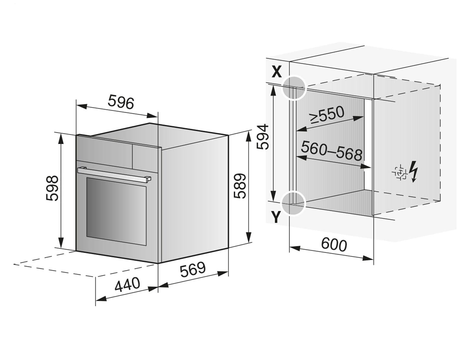 V-ZUG 2307360002 Combi-Steam MSLQ Dampfbackofen mit Mikrowelle Spiegelglas