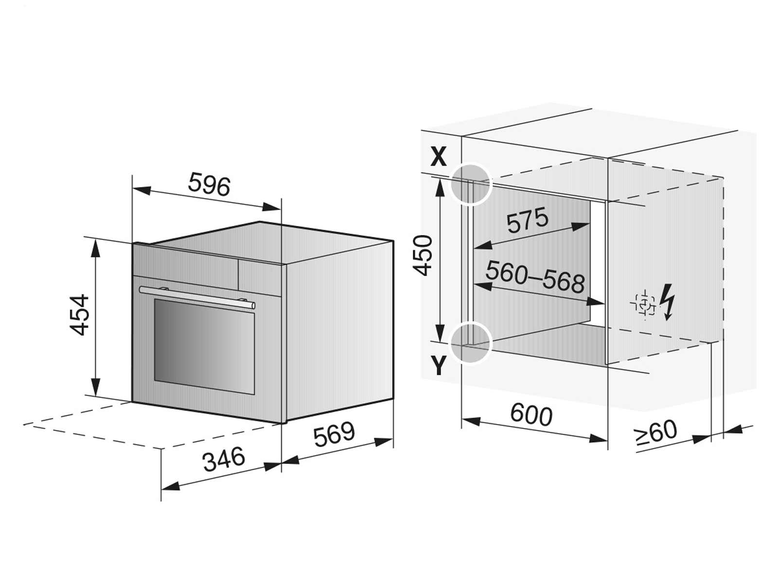 V-ZUG 2306860322 Combi-Steam XSLF Dampfbackofen Spiegelglas