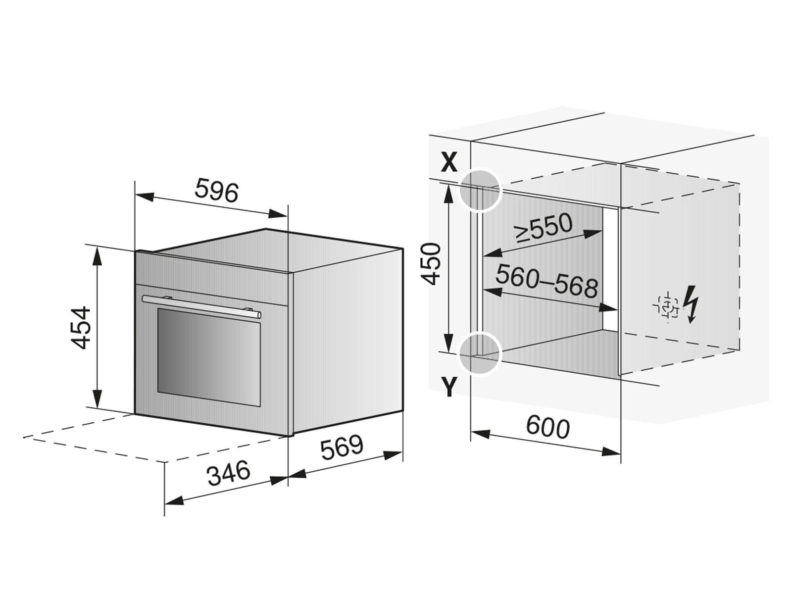 V-ZUG 2306560002 Combi-Steam XSL Dampfbackofen Spiegelglas