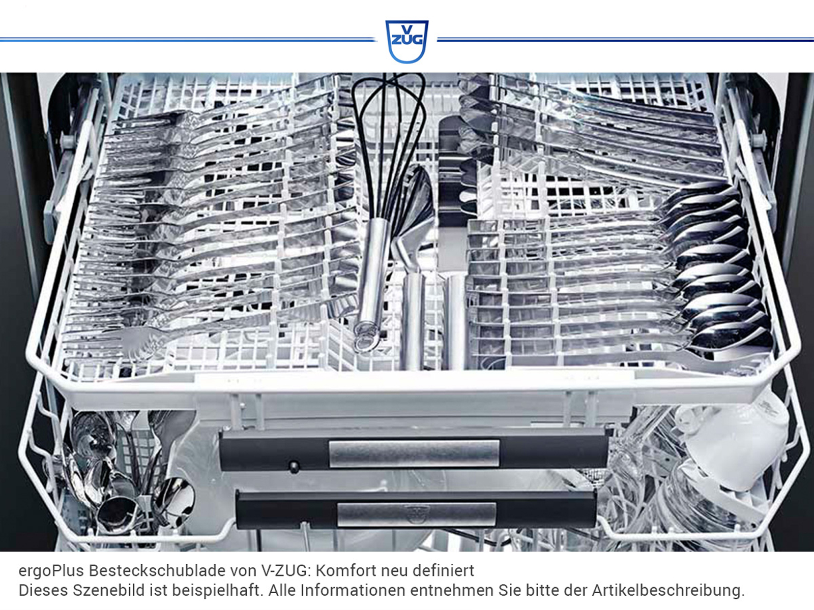 V-ZUG Adora 4111400007 V4000  Vollintegrierbarer Einbaugeschirrspüler XXL