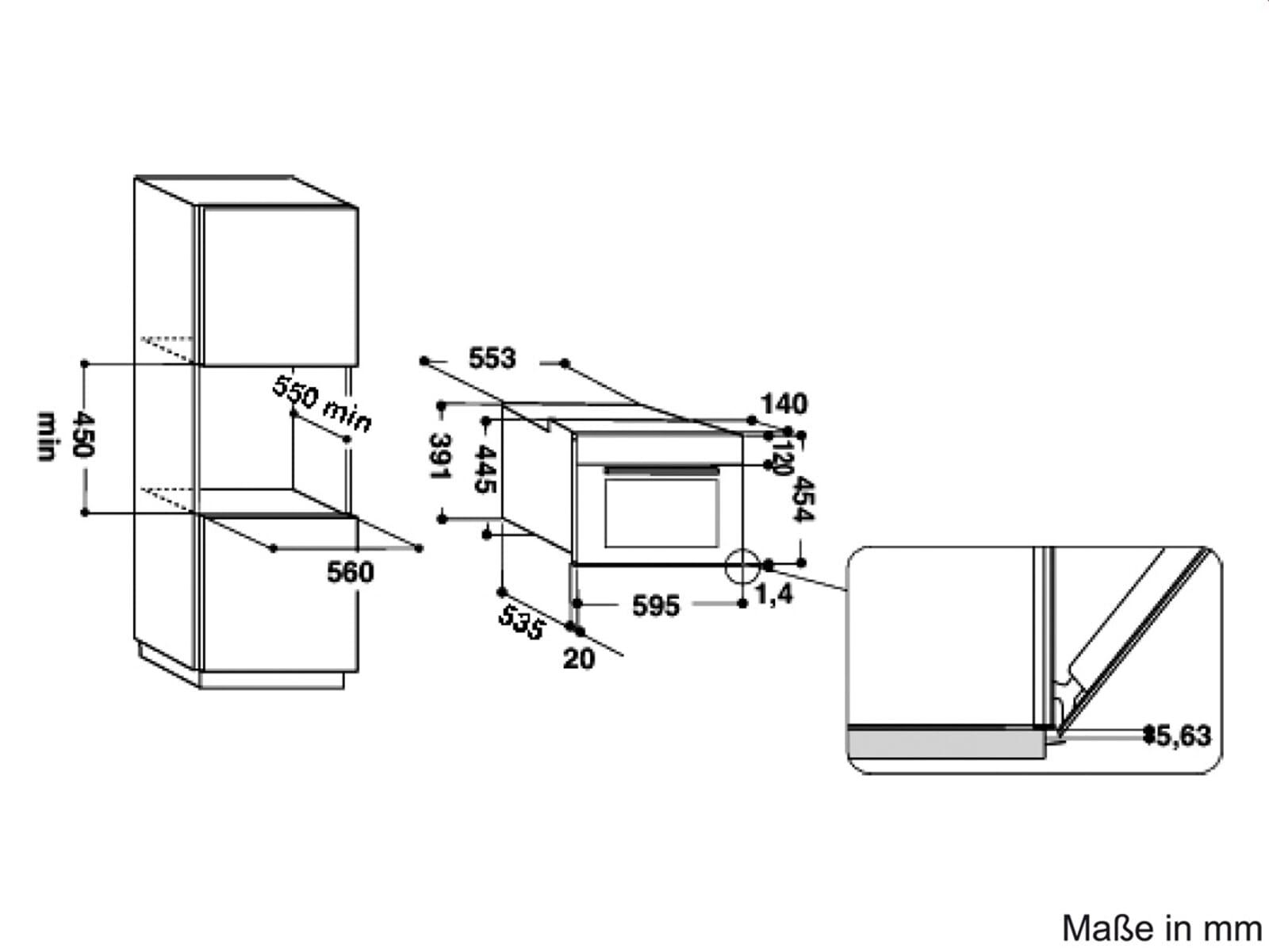 Whirlpool AMW 505 IX Einbau-Mikrowelle Edelstahl