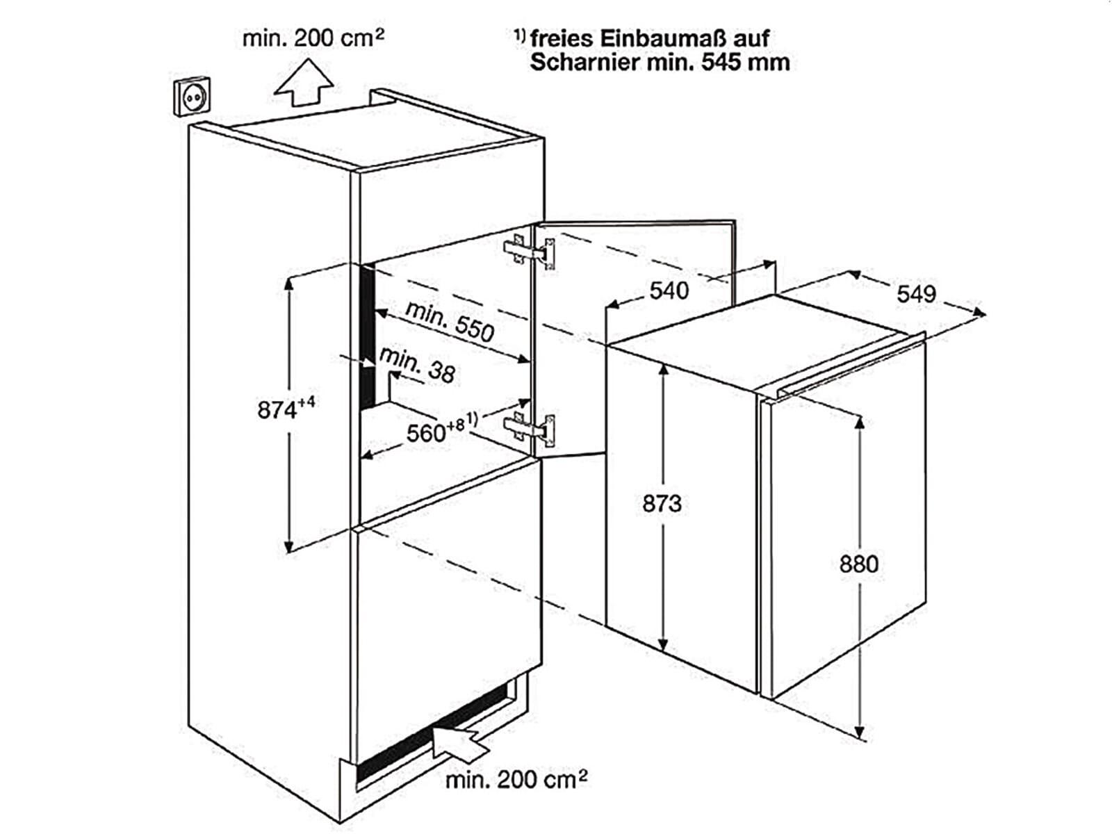Zanussi ZBA14421SA Einbaukühlschrank