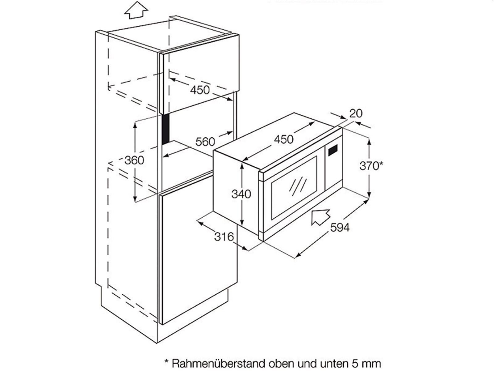 zanussi zbm17542xa einbau mikrowelle edelstahl. Black Bedroom Furniture Sets. Home Design Ideas